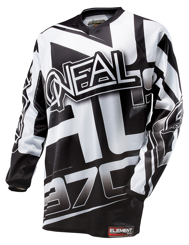 O'Neal Youth Element Jersey Black/White