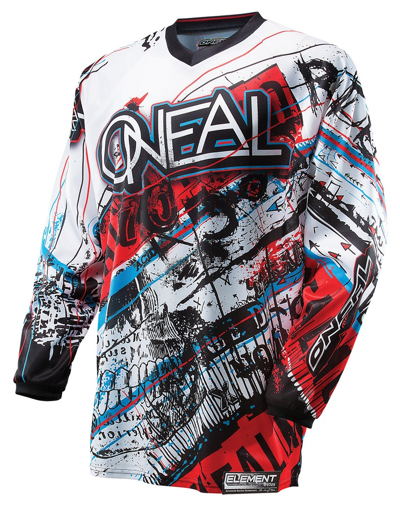 O'Neal Youth Element Acid Jersey Blue/Red
