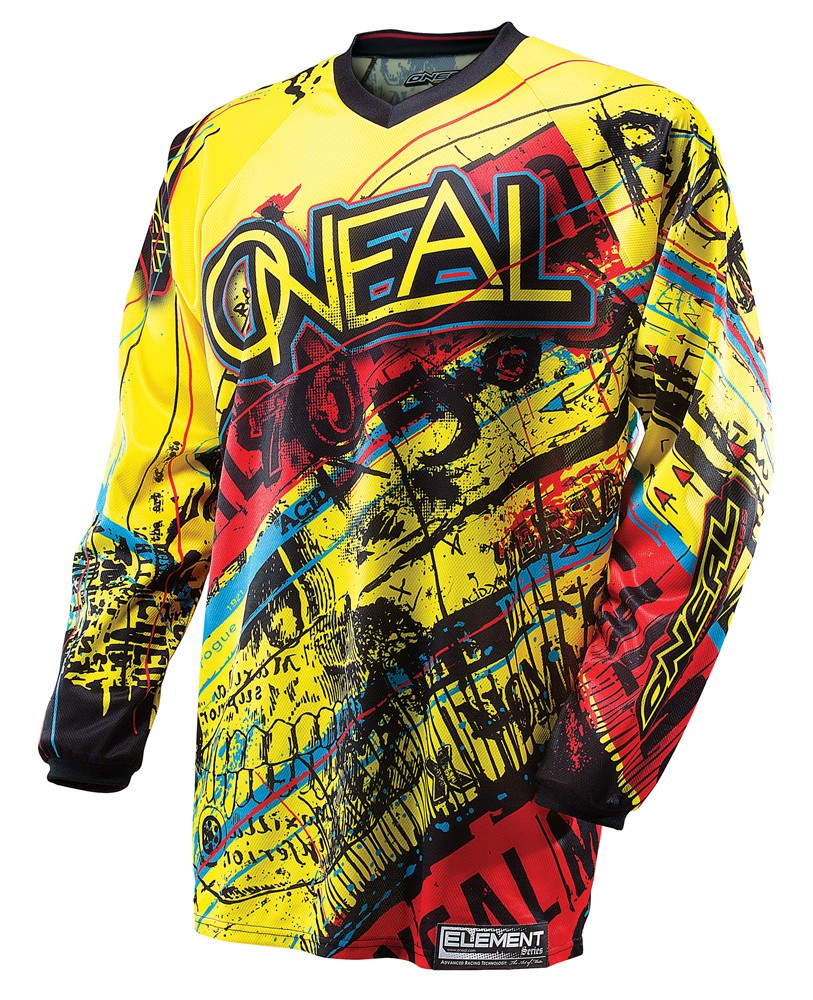 O'Neal Youth Element Acid Jersey Yellow/Red
