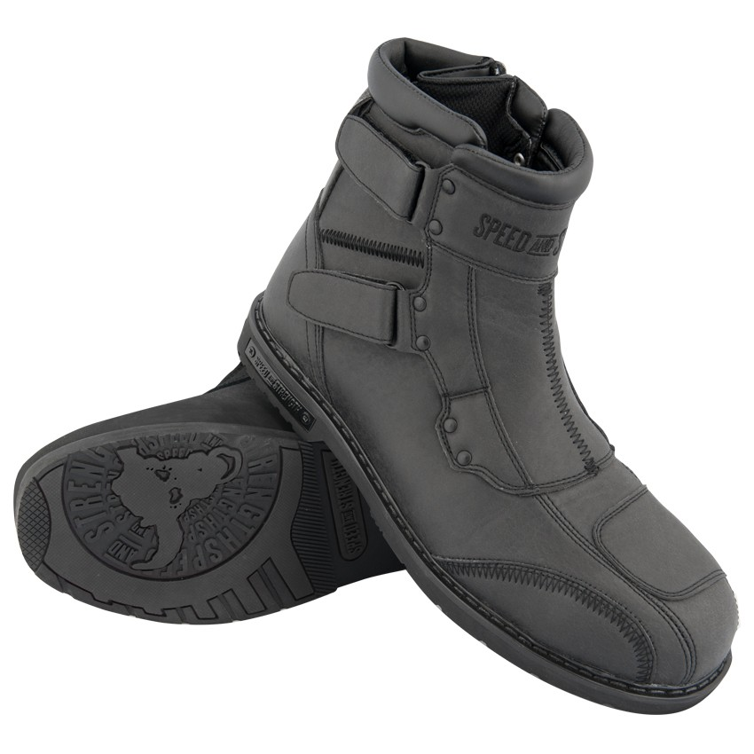 Speed And Strength Speed Shop Leather Boots - Black
