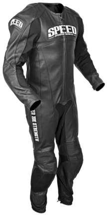 Speed and Strength Triple Crown One Piece Race Suit - Black