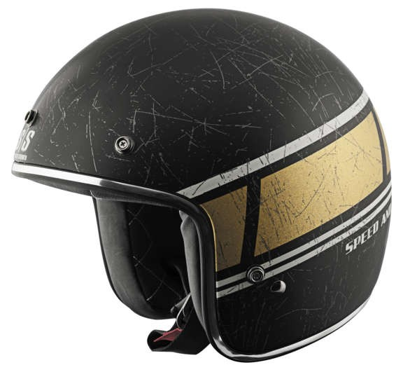 Speed and Strength SS600 Restomod Helmet_Matte Black/Gold