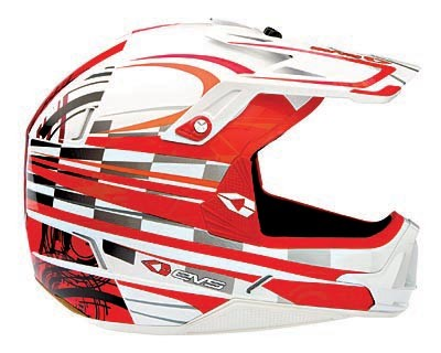 EVS-Factor Helmet Bullseye_red / white