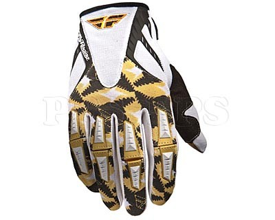 FLY-11 Kinetic Gloves-White/Gold