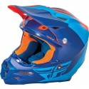 Fly Racing F2 Carbon Pure Helmet Matte Blue/Orange