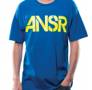 Answer Stencil Tee - Blue/Yellow