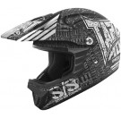 Speed and Strength - SS2300 Tapout Moto JR MX Helmet_Black / Charcoal