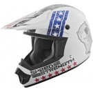 Speed and Strength - SS2400 Dogs of WAR MX Helmet_Red / White / Blue