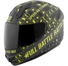 Speed and Strength - SS1400 Battle Rattle Full Face Helmet_Matte Black / Hi Vis