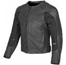 Speed and Strength - Fiber Battle Rattle Leather Jacket Black
