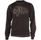 Speed and Strength - Rust & Redemption Thermal Long Sleeve Tee Shirt Brown