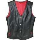 Power Trip Ladies Scarlet Leather Vest