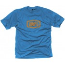 100% - Essential Tee Shirt_Heather Blue