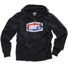 100% - Official Zip Front Hoody Navy