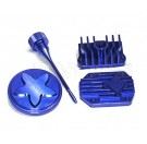 Billet Engine Dress up kit _blue