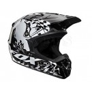 FOX-11-V1 Checked Out Helmet_Blk/Wht