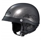 HJC CL-Ironroad Black Rose Half Helmet