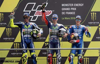 French MotoGP Podium