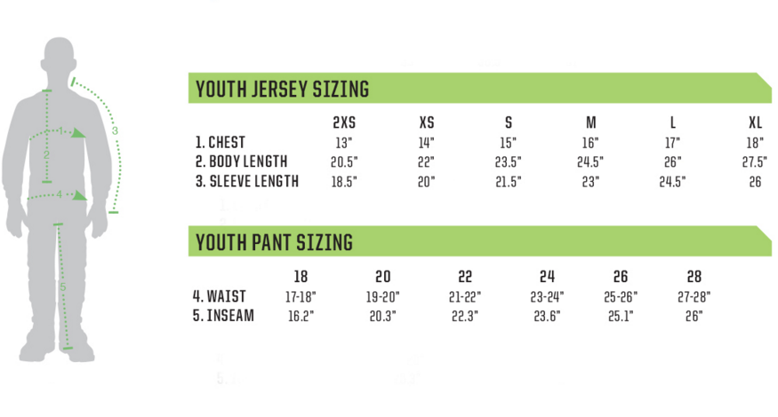 youth jersey sizes